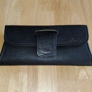 Leather purse, clutch, evening handbag, envelope